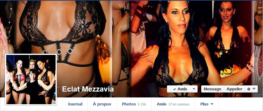 Eclat lingerie sur Facebook