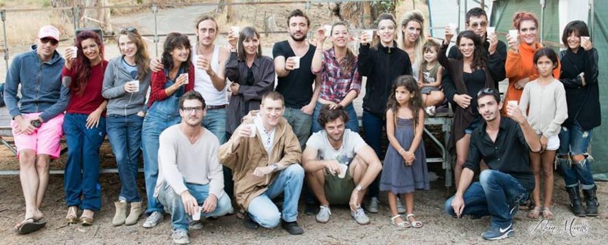 """Défilé GLC pour le tournage du film """"Le fan de base"""" à Alata"""