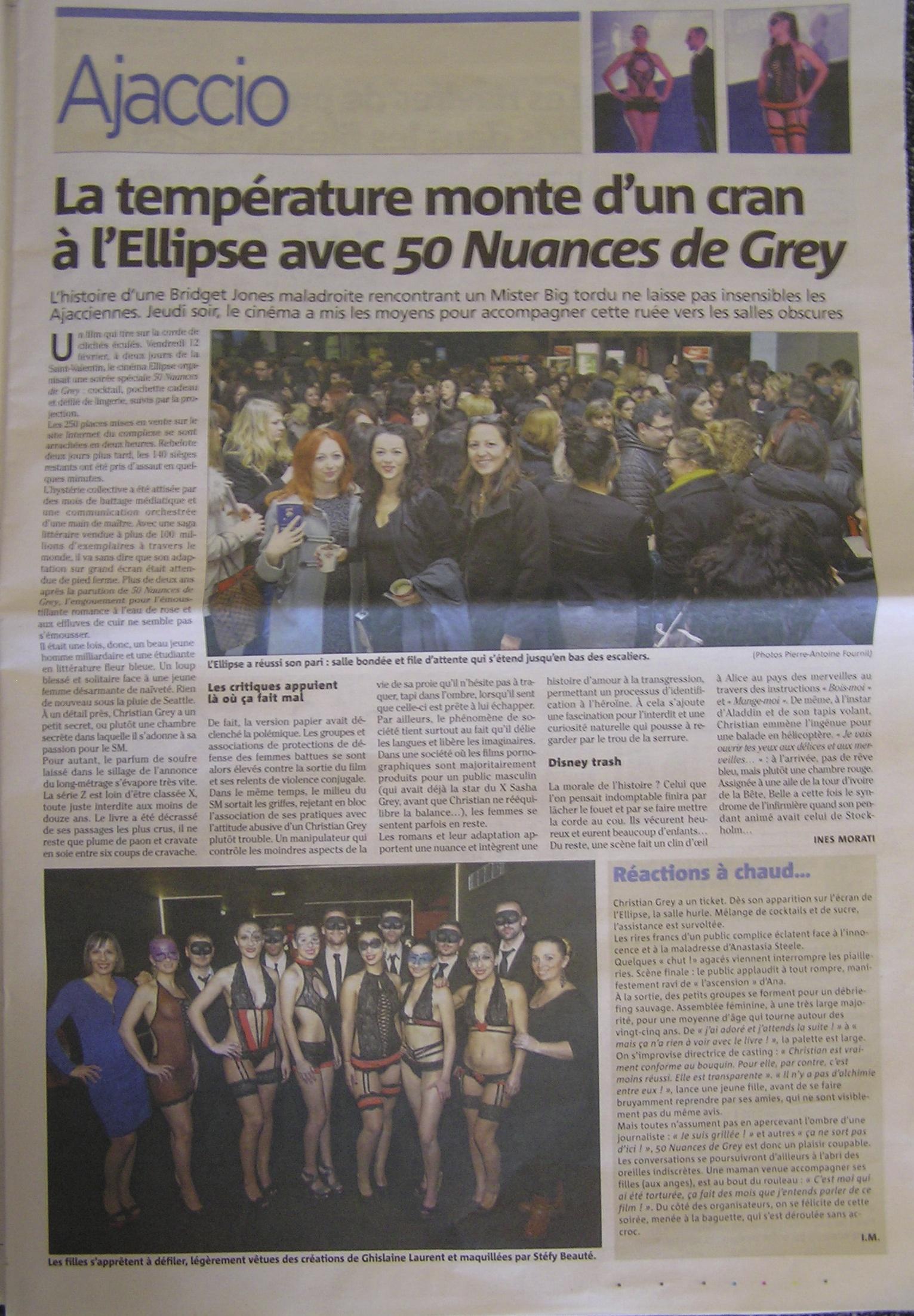 """GLC enflamme la soirée """" 50 nuances de Grey"""""""