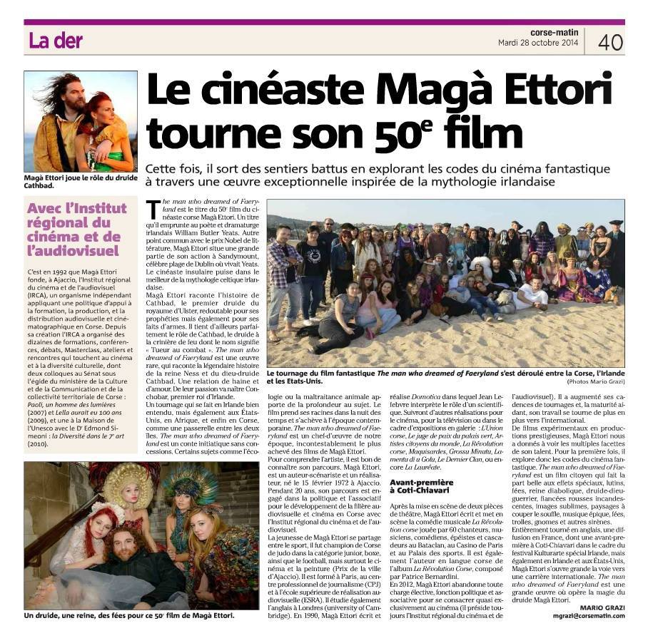 GLC tourne dans le film de Maga ETTORI